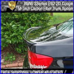 07-11 BMW 3-Series E92 2Dr Coupe M-Tech Msport Trunk Spoiler M3 Carbon Fiber CF