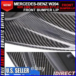 08-11 BENZ C Class W204 C63 AMG Godhand Style GH Front Bumper Lip Carbon Fiber