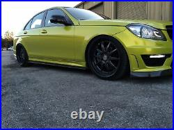 08-14 Mercedes Benz W204 C63 2d 4d Carbon Fiber Side Skirt Extension Splitters