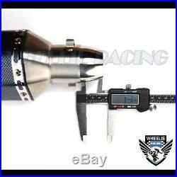 1-1/4 Rolled Tip Racing Performance 1.5-2 Exhaust Muffler Carbon Fiber Look