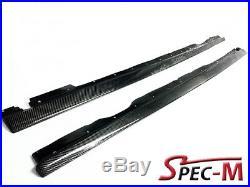 2001-2006 E46 Coupe Bmw M3 R1 Style Carbon Fiber Side Skirts Rocker Lip