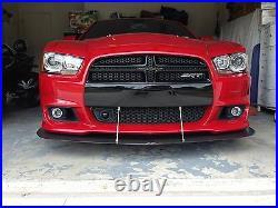2011 2012 2013 2014 Dodge Charger SRT8 Front Bumper Carbon Fiber Splitter