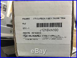 2015 2016 2017 2018 2019 WRX & STI CARBON FIBER TRUNK TRIM J121SVA100 Genuine
