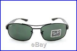 $260 Genuine RAY-BAN Tech CARBON FIBRE G15 Green Lens Men Sunglasses RB 8316 002