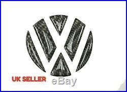 3D black Carbon Fiber Rear Badge Inserts for VW GOLF MK5 MK6 MK7 POLO R GTI GTD