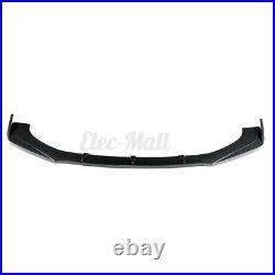 3PCS Carbon Fiber Look Front Bumper Splitter Spoiler Lip For Nissan 350Z 370Z