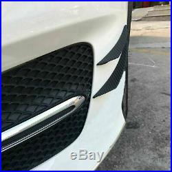 4PC Carbon Fiber Pattern Bumper Lip Spoiler Fins Canards Splitters Chin Diffuser