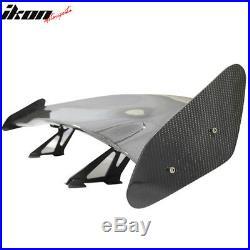 56 Inch GT Style Racing Race Drag Trunk Spoiler Wing 3D Carbon Fiber CF