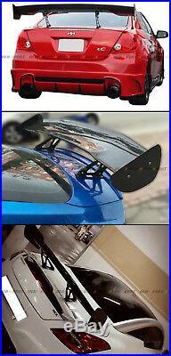 57 Inch Carbon Fiber Adjustable GT-Style Race Track Rear Trunk Lid Spoiler Wing