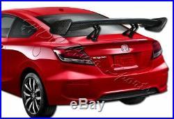 57 TYPE-3 Carbon Fiber Adjustable Rear Trunk GT-Style Spoiler Wing Universal 2