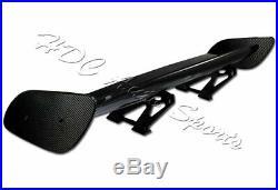 57 TYPE-3 Carbon Fiber Adjustable Rear Trunk GT-Style Spoiler Wing Universal 4