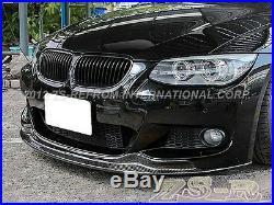 AK Look Carbon Fiber Add-On Front Bumper M-Package Lip for BMW 2011+ E92 E93 LCI