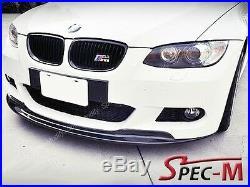 AK Style Carbon Fiber Front Bumper Lip Fits BMW E92 328i 335i Coupe with M sport