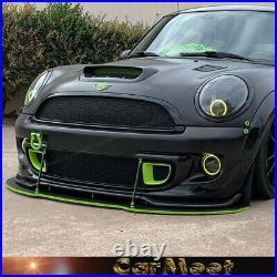 All New 2007-2013 Mini Cooper R56 S GB Style Carbon Fiber Front Lip 2008 2009