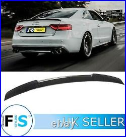 Audi A5 S5 B8 Real Carbon Fibre Rear Boot Spoiler Lip Oem Fit 12-17 For Saloon