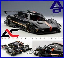 Autoart 78272 118 Pagani Zonda R Revolution Carbon Fiber Black Supercar