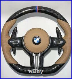 BMW 2019 M Performance F Series Carbon Fiber Steering Wheel RED/BLUE design line