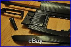 BMW 5 series e60 e61 Black Carbon Fiber Wrapped Interior Trim Set