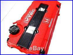 Black Engine Dress Up Kit Carbon Fiber B16 B18 Valve Wire Cover Washer Seal Nut