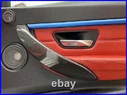 Bmw Carbon Fibre Interior Door Handle Cover Trim 3 4 Series F30 F31 F32 F33 F36