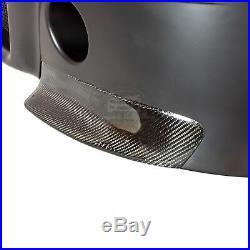 CSL STYLE PLASTIC FRONT BUMPER With CARBON FIBER SPLITTERS FOR E46 COUPE & CABRIO