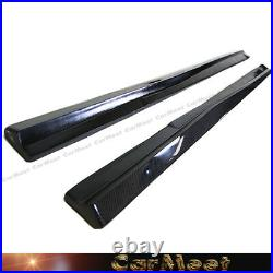 Carbon Fiber 7C Type Side Skirt Lip For BENZ W204 C204 C-Sport withAMG Bumper Use