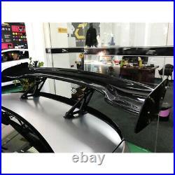 Carbon Fiber Color Car Rear Spoiler Racing Wing 57'' 3D 3DI GT Twill Adjustable