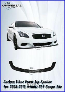 Carbon Fiber Front Lip Spoiler For 2008-2013 Infiniti G37 Q60 Coupe 2dr