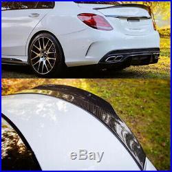 Carbon Fiber Highkick Trunk Spoiler Wing For 2015-19 Mercedes Benz W205 C63 AMG