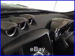 Carbon Fiber Instrument Speed Gauge Cluster Panel Hood Pod Cover For Nissan 370z