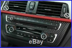 Carbon Fiber Interior Decal Trim Pkg Radio Center Door for BMW 3 Series F30 F31