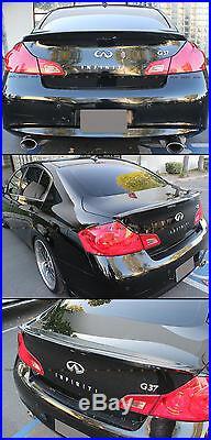 Carbon Fiber Jdm Style Rear Trunk Spoiler For 2007-2015 Infiniti G35 G37 Sedan
