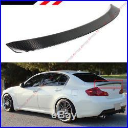 Carbon Fiber Jdm Vip Rear Trunk Spoiler Wing Fit For 2007-2015 G35 G37 Q40 Sedan