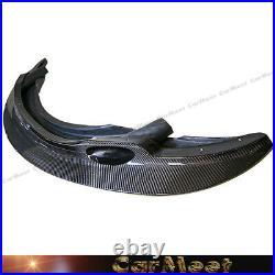 Carbon Fiber Pattern Front Lip GT4 Look For 08-13 E90 E92 E93 M3 Factory Bumper