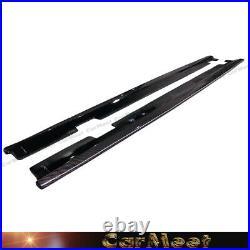 Carbon Fiber Pattern Side Skirt Lip For 06-10 BMW E60 M5 Sedan Factory Model