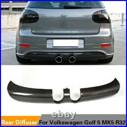 Carbon Fiber Rear Bumper Diffuser Lip Spoiler for Volkswagen VW Golf 5 MK5 R32