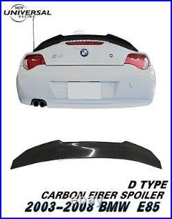 Carbon Fiber Rear Trunk Spoiler For 2002-2008 BMW E85 Z4 Convertible 2dr Type D