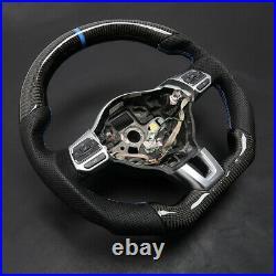 Carbon Fiber Steering Wheel Cover For VW Golf 6 GTI GTD R MK6 Jetta GLI Scirocco