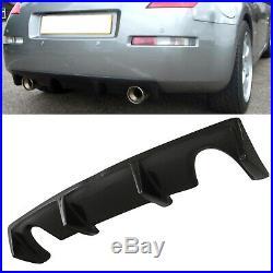 Carbon Fibre Fiber Rear Bumper Diffuser Valance Skirt For Nissan 350z Z33 03-09