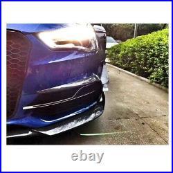 Carbon Fibre Front Bumper Fog Canards Trim Splitter Audi A3 S Line S3 8V Saloon