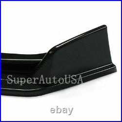 Carbon fiber Front Bumper Lip Spoiler Cover For 2014-2017 Infiniti Q50 Sedan