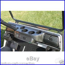 Club Car DS Golf Cart Car Dash Board Cover CARBON FIBER 4 Cup Fast Shipping