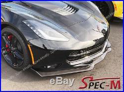 Corvette C7 Z06 Stingray Stage 2 Carbon Fiber Front Bumper Lip With Winglets