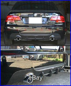DUAL EXHAUST CARBON FIBER REAR DIFFUSER FOR 2007-13 BMW E92 E93 With M-TECH BUMPER