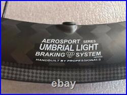 Edco Aerosport Umbrial Light Tubular NOT clincher 45mm Carbon Fiber Wheelset