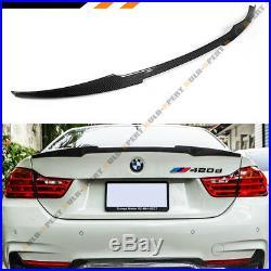 FITS 2014-2020 BMW 428i 435i 440i CARBON FIBER TRUNK SPOILER WING- M4 LOOK STYLE