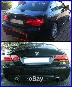 FOR 07-13 BMW 335i 2D TWIN EXHAUST CARBON FIBER REAR DIFFUSER FIT M-TECH BUMPER