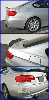 FOR 07-13 BMW E92 335i 328i M3 HIGHKICK DUCKBILL CARBON FIBER TRUNK SPOILER WING