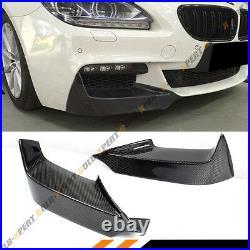 FOR 2012-17 BMW F12 F13 640i 650i M SPORT CARBON FIBER FRONT BUMPER SPLITTERS