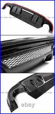 FOR 2014-2017 INFINITI Q50 JDM CARBON FIBER REAR BUMPER DIFFUSER VALANCE With VENT